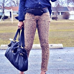 DKNY Animal Print Jeans